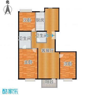 华门清水湾137.58㎡户型3室1厅2卫1厨