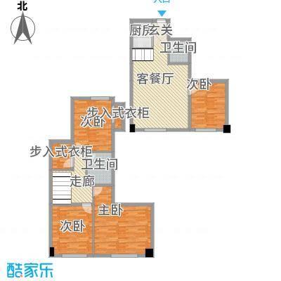 尚座112.00㎡尚座户型图M2室2厅2卫1厨户型2室2厅2卫1厨