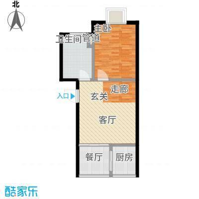 温泉桃花城户型图1室1厅1卫1厨
