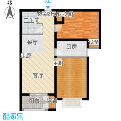 水岸丽景88.00㎡水岸丽景户型图C户型2室2厅1卫1厨户型2室2厅1卫1厨