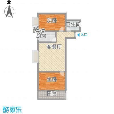 北辰广场87.25㎡北辰广场户型图户型B2室2厅1卫户型2室2厅1卫