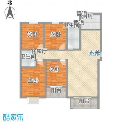 北部时光164.65㎡北部时光户型图G1户型164.65㎡4室2厅2卫1厨户型4室2厅2卫1厨