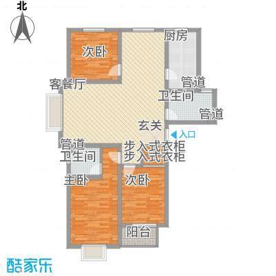 北部时光135.45㎡北部时光户型图B1户型135.45㎡3室2厅2卫1厨户型3室2厅2卫1厨