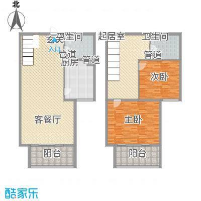 北部时光115.32㎡北部时光户型图D7户型115.32㎡2室2厅2卫1厨户型2室2厅2卫1厨