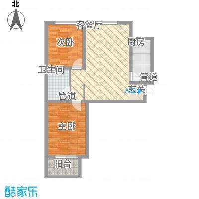 北部时光92.13㎡北部时光户型图D4户型92.13㎡2室2厅1卫1厨户型2室2厅1卫1厨