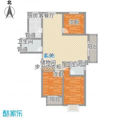 北部时光141.89㎡北部时光户型图B3户型141.89㎡3室2厅2卫1厨户型3室2厅2卫1厨