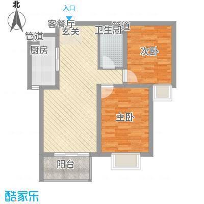 北部时光85.42㎡北部时光户型图B2户型85.42㎡2室2厅1卫1厨户型2室2厅1卫1厨