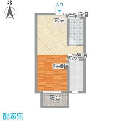 北部时光59.12㎡北部时光户型图D2一室一厅一卫1室1厅1卫1厨户型10室