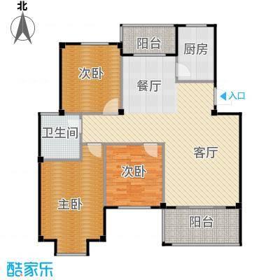 江南名苑103.29㎡B3户型3室1厅1卫1厨