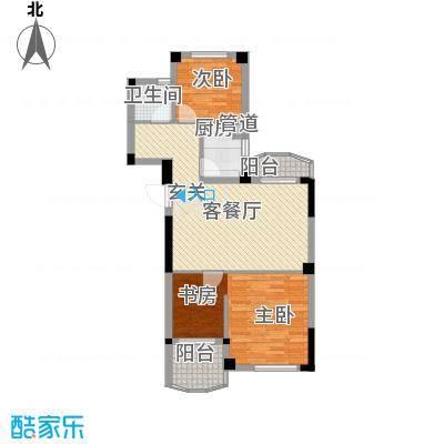 航天花园三期户型图户型E 3室2厅1卫