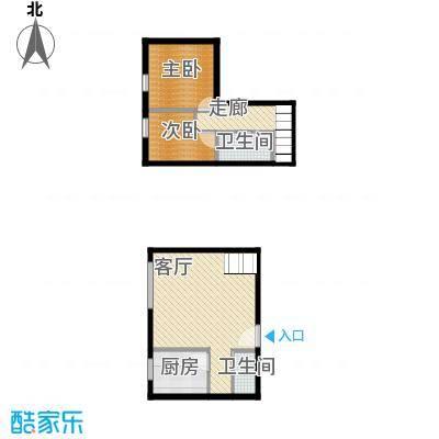 湘隆时代大公馆78.76㎡c4楼4001户型2室1厅2卫1厨