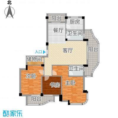 丁香花园150.61㎡7号楼1层东边套户型3室1厅2卫1厨