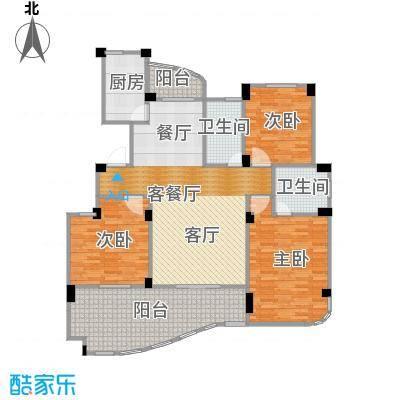 丁香花园137.96㎡1号楼01户型3室1厅2卫1厨