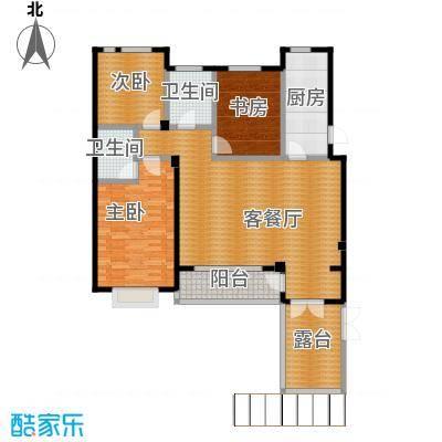 西山庭院二期花石匠132.00㎡西山庭院20号楼二层左侧户型3室1厅2卫1厨
