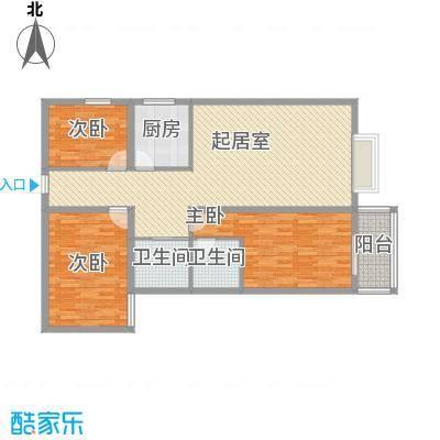 龙洲新城146.27㎡龙洲新城户型图2号楼-1-04户型图3室2厅2卫1厨户型3室2厅2卫1厨
