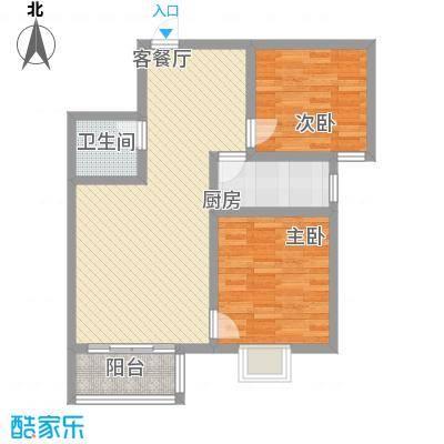 盛景八方86.02㎡盛景八方户型图F户型2212室2厅1卫户型2室2厅1卫