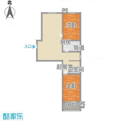 峰汇公馆125.80㎡峰汇公馆户型图G户型2室2厅1卫1厨户型2室2厅1卫1厨