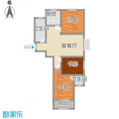 第一街区傲湖115.47㎡第一街区户型图5#J户型3室2厅2卫1厨户型3室2厅2卫1厨