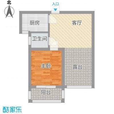 第一街区傲湖59.98㎡第一街区户型图5#K户型1室1厅1卫1厨户型1室1厅1卫1厨