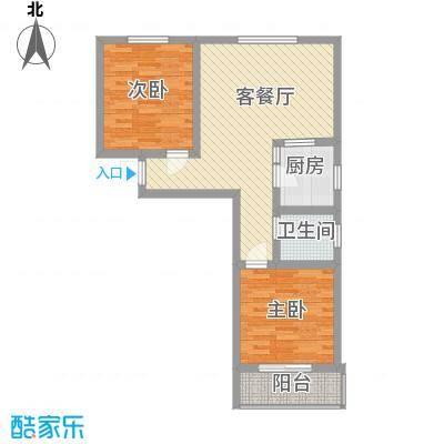 第一街区傲湖87.96㎡第一街区户型图8#O户型2室2厅1卫1厨户型2室2厅1卫1厨