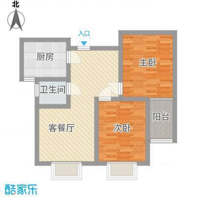 第一街区傲湖78.57㎡第一街区户型图8#P户型2室2厅1卫1厨户型2室2厅1卫1厨