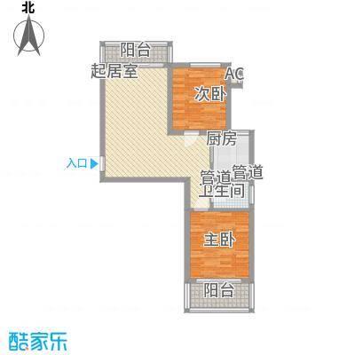 信通花园二期88.00㎡2室2厅1卫88㎡户型2室2厅1卫1厨