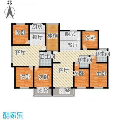 金世纪红枫苑231.16㎡户型6室2厅3卫2厨