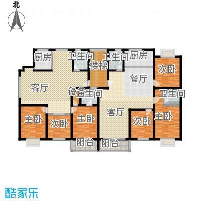 金世纪红枫苑256.86㎡户型6室2厅4卫2厨