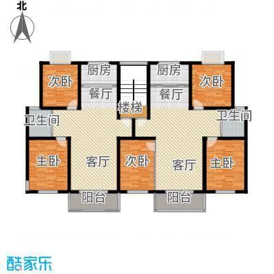 金世纪红枫苑206.17㎡户型5室2厅2卫2厨