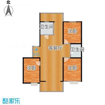 金盛花园141.27㎡户型3室1厅2卫