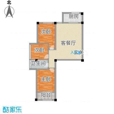 百盛朗庭115.00㎡户型3室2厅1卫1厨