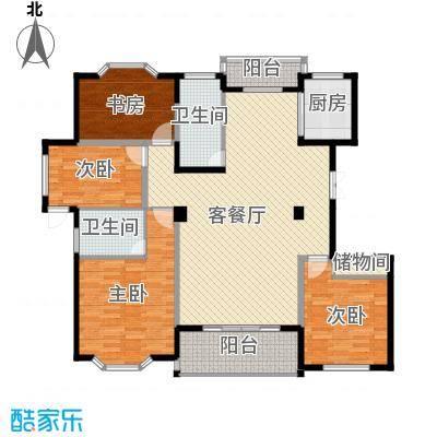 荆山翠谷174.00㎡户型4室1厅2卫1厨