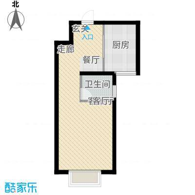 水岸丽景42.00㎡水岸丽景户型图F户型1室1厅1卫1厨户型1室1厅1卫1厨