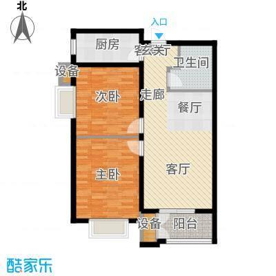 水岸丽景85.00㎡水岸丽景户型图B户型2室2厅1卫1厨户型2室2厅1卫1厨