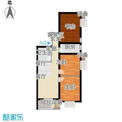 水岸丽景92.00㎡水岸丽景户型图E户型3室2厅1卫1厨户型3室2厅1卫1厨