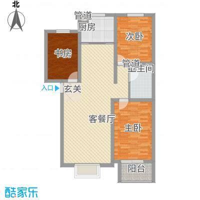 北部时光115.04㎡北部时光户型图D3户型115.04㎡3室2厅1卫1厨户型3室2厅1卫1厨