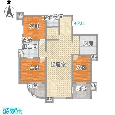 峰汇公馆156.80㎡峰汇公馆户型图C户型3室2厅2卫1厨户型3室2厅2卫1厨