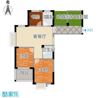 金成江南春城庭院深深89.00㎡C5B户型3室1厅1卫1厨