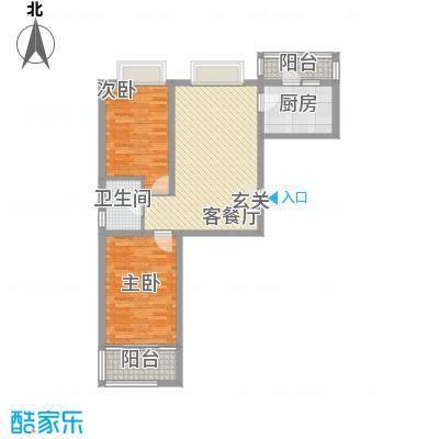 大马庄园98.50㎡大马庄园户型图G12室2厅1卫户型2室2厅1卫
