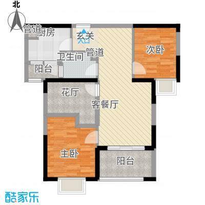 七里香苑云龙阁93.00㎡一期c1户型2室2厅1卫