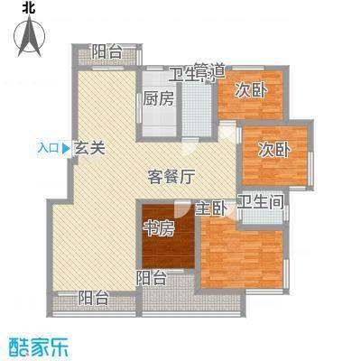 海天阳光园165.00㎡海天阳光园4室户型4室