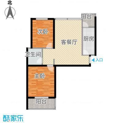 中城花溪畔94.57㎡6#D户型2室1厅1卫1厨