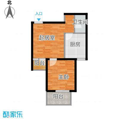 中城花溪畔55.59㎡6#B户型1室1卫1厨