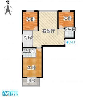 中城花溪畔109.99㎡6#F户型3室1厅2卫1厨