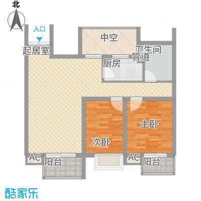 翠微品墅别墅翠微品墅别墅户型图B-2h2室2厅1卫户型2室2厅1卫