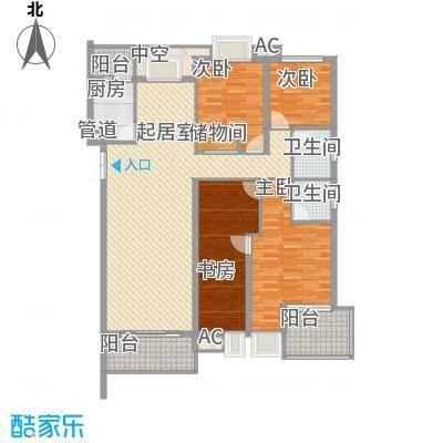 翠微品墅别墅翠微品墅别墅户型图B-2q2室4厅2卫户型2室4厅2卫