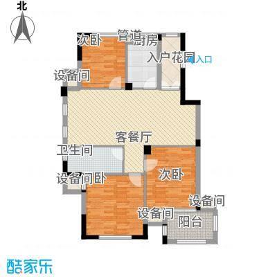 星汇半岛120.46㎡星汇半岛户型图星悠庭H1户型3室2厅2卫1厨户型3室2厅2卫1厨