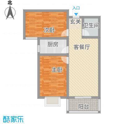 东龙府邸户型图D户型 2室2厅1卫