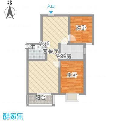 裕馨城二期90.88㎡裕馨城二期户型图5号楼B户型2室2厅1卫1厨户型2室2厅1卫1厨