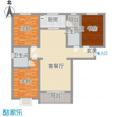 东龙府邸户型图A户型 3室2厅2卫
